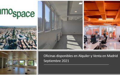 Oficinas disponibles en Alquiler y Venta en Madrid